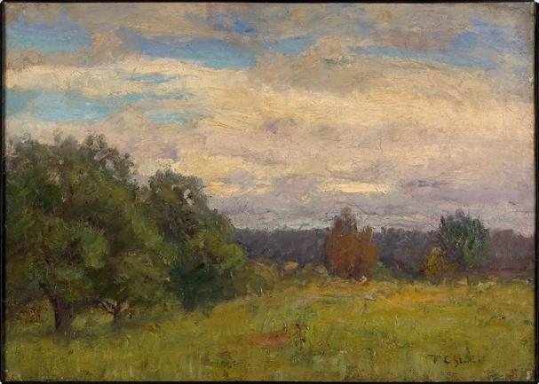 famous painting Late Afternoon of Theodore Clement Steele