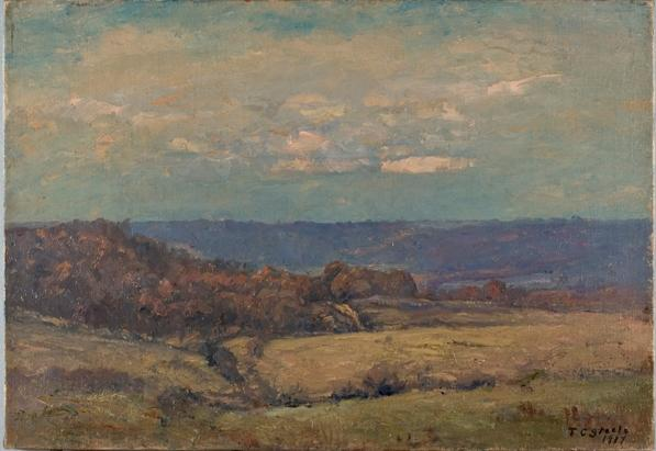 famous painting Late Autumn in the Valley of Theodore Clement Steele
