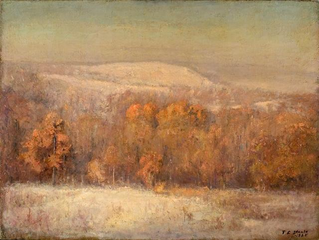 famous painting Late November Morning of Theodore Clement Steele