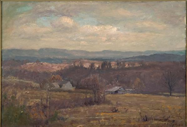 famous painting Looking Toward Bear Wallow of Theodore Clement Steele