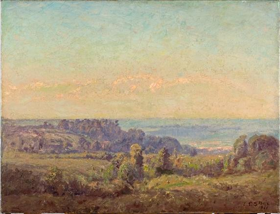 famous painting Looking Toward the Valley of Theodore Clement Steele