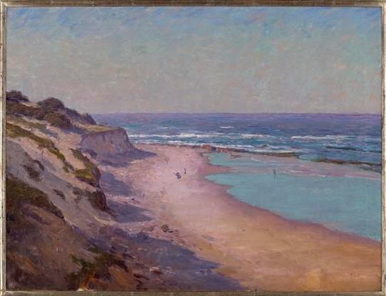famous painting Low Tide on the Oregon Coast of Theodore Clement Steele