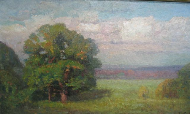 famous painting Mellowing Year (The Big Oak) of Theodore Clement Steele