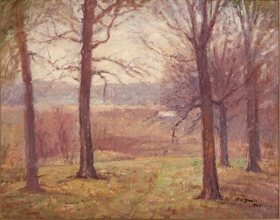 famous painting Misty Spring Morning of Theodore Clement Steele