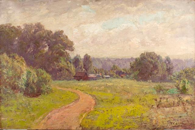 famous painting Morning in the Valley of Theodore Clement Steele