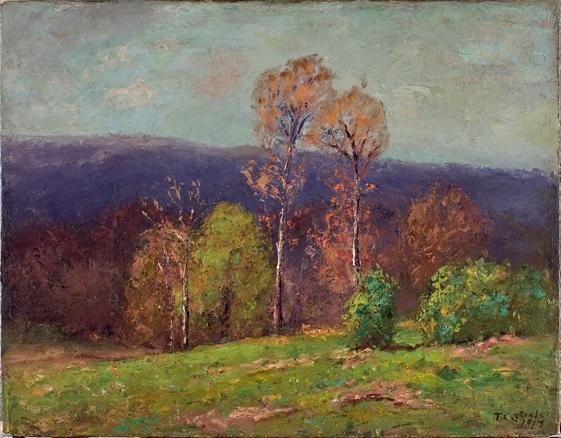 famous painting Mountain Ridge in the Distance (Cloud Shadows) of Theodore Clement Steele
