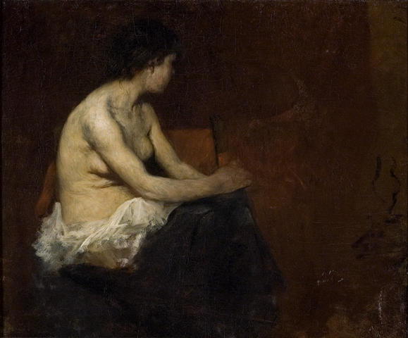 famous painting Munich Painting of Nude of Theodore Clement Steele