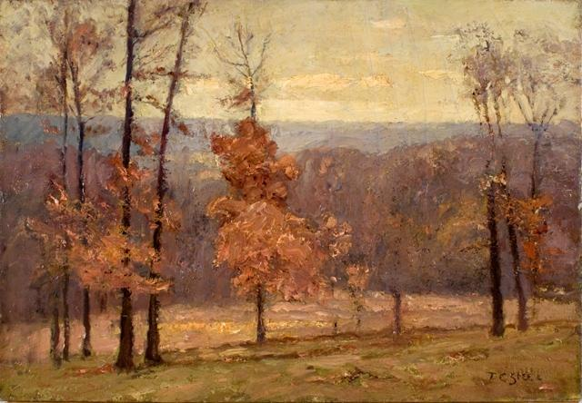 famous painting November Days in the Hills of Theodore Clement Steele