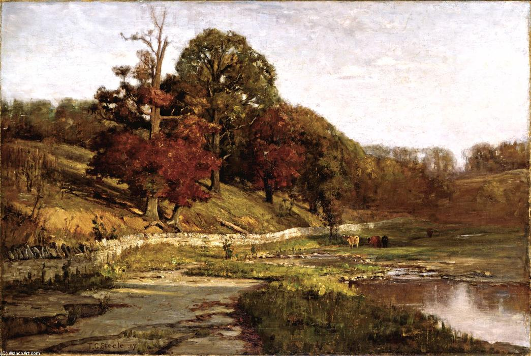 famous painting Oaks at Vernon of Theodore Clement Steele