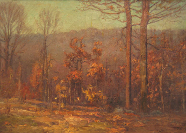 famous painting October of Theodore Clement Steele