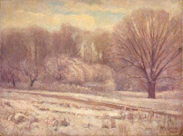 famous painting On the Jordan-In Snow and Mist of Theodore Clement Steele