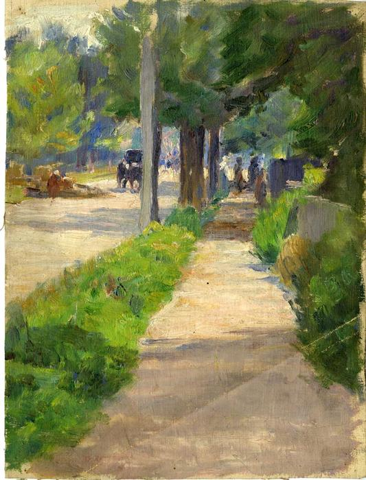 famous painting Painting Study of Streetscape of Theodore Clement Steele