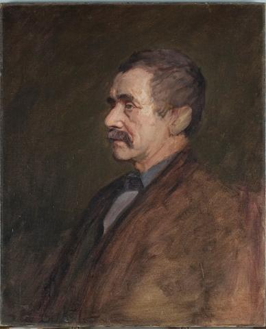 famous painting Portrait of a man 4 of Theodore Clement Steele