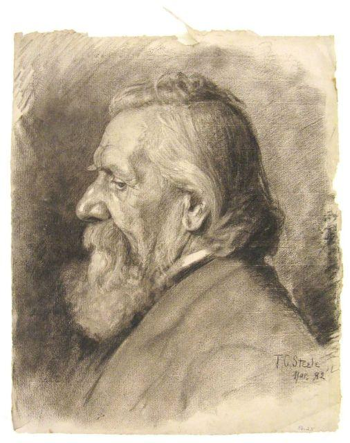 famous painting Portrait of an elderly man 2 of Theodore Clement Steele