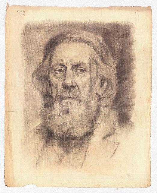 famous painting Portrait of an elderly man of Theodore Clement Steele
