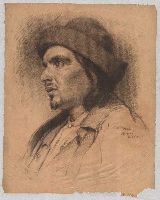 famous painting Portrait of an unknown man of Theodore Clement Steele