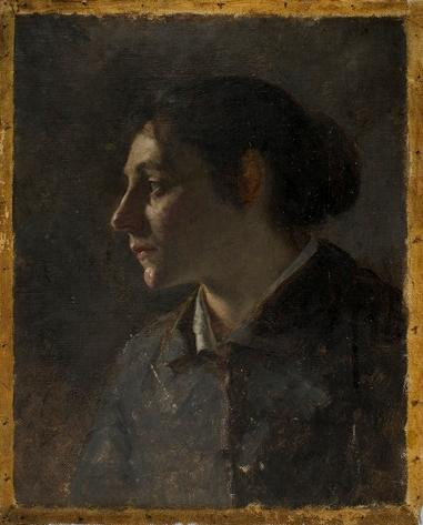 famous painting Portrait Study of Young Munich Woman of Theodore Clement Steele