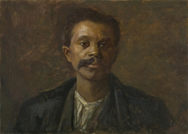 famous painting Portrait Study. A Black Man of Theodore Clement Steele