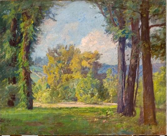 famous painting Radiant Day in Late Summer (Mid-Summer) of Theodore Clement Steele