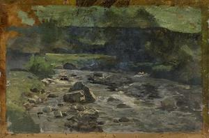 Theodore Clement Steele - River with Rocks Study
