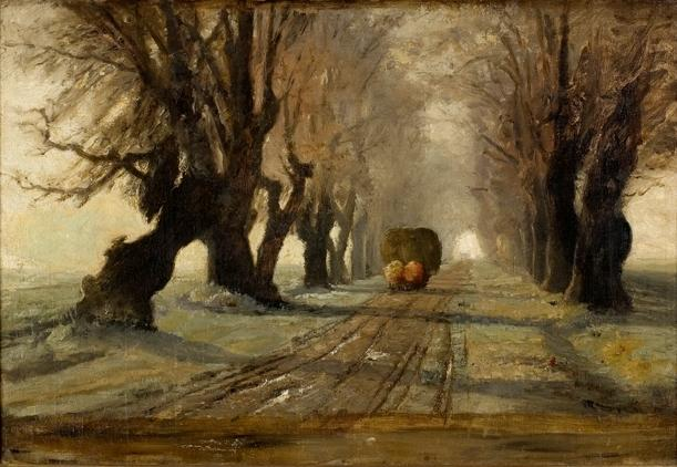 famous painting Road to Schleissheim 1 of Theodore Clement Steele