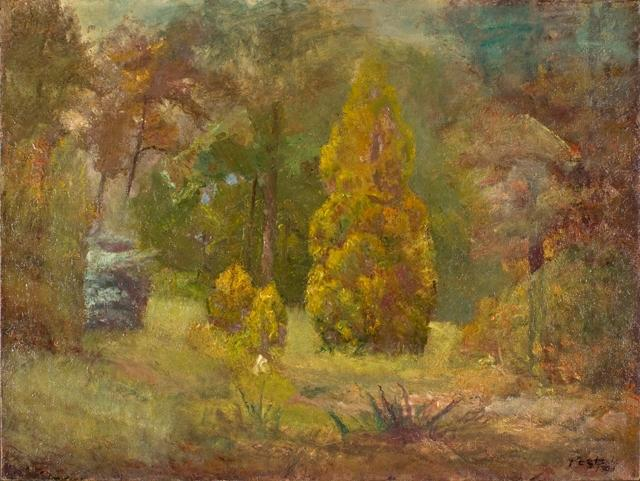 famous painting Road to the Ravine of Theodore Clement Steele