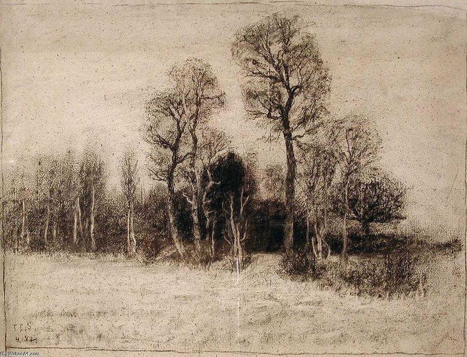 famous painting Schleissheim Woods of Theodore Clement Steele