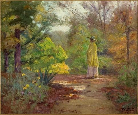 famous painting Selma and the Yellow Shawl of Theodore Clement Steele