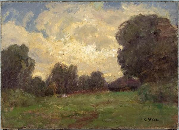 famous painting Storm Clouds (Late in the Day, The Home) of Theodore Clement Steele