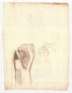 Theodore Clement Steele - Studies of clenched fists