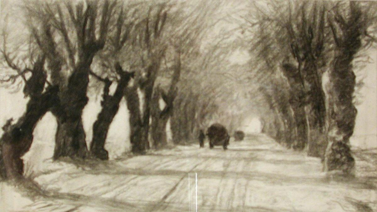 famous painting Study for Road to Schleissheim of Theodore Clement Steele