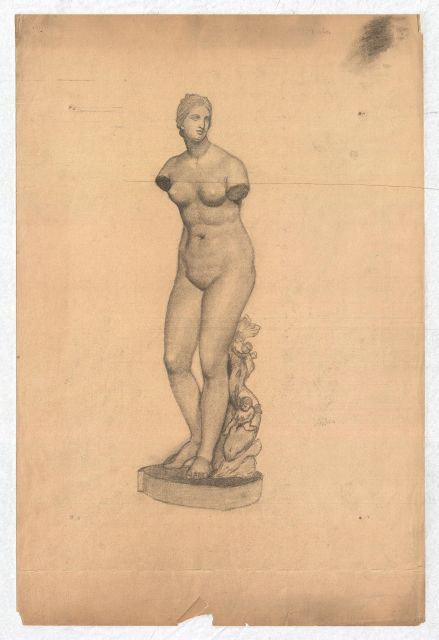 famous painting Study of a classical female torso of Theodore Clement Steele