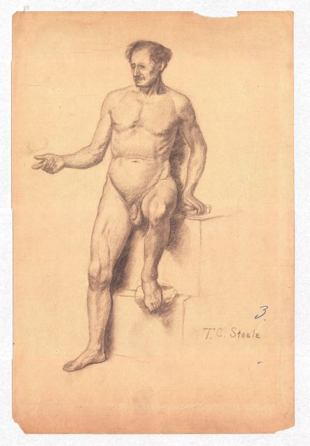 famous painting Study of a Male Nude 3 of Theodore Clement Steele