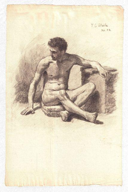 famous painting Study of a Male Nude 4 of Theodore Clement Steele