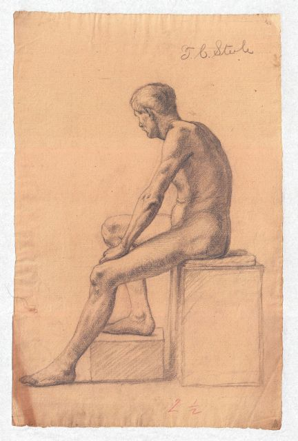 famous painting Study of a Male Nude 5 of Theodore Clement Steele