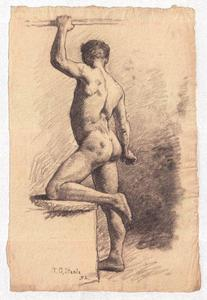 Theodore Clement Steele - Study of a Male Nude 7
