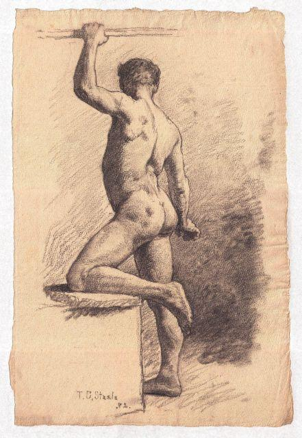 famous painting Study of a Male Nude 7 of Theodore Clement Steele