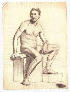 Theodore Clement Steele - Study of a Male Nude 9