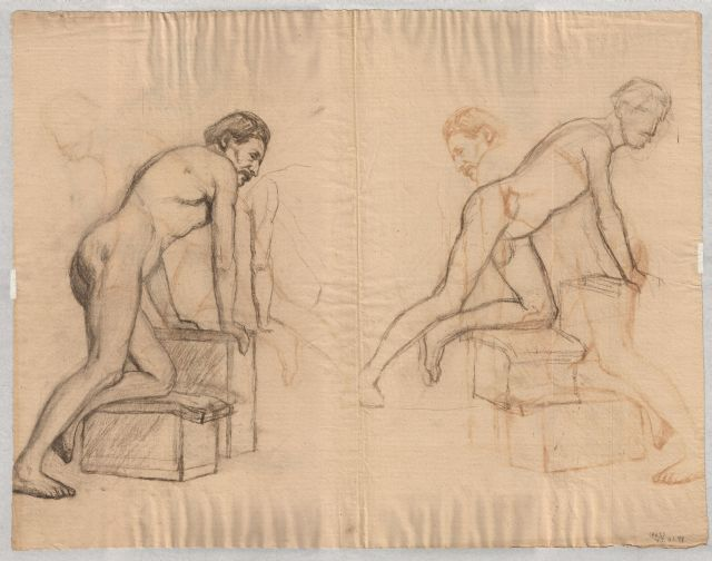 famous painting Study of male nude 1 of Theodore Clement Steele