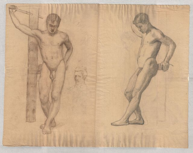 famous painting study of male nude 2 of Theodore Clement Steele