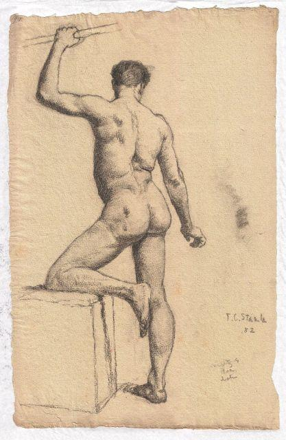 famous painting Study of male nude of Theodore Clement Steele