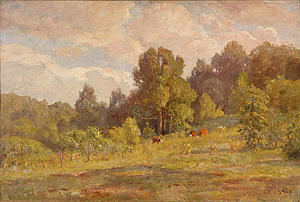 Theodore Clement Steele - Sunlight, Late Summer