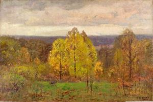 Theodore Clement Steele - The Breaking Sky (Autumn, North Slope)