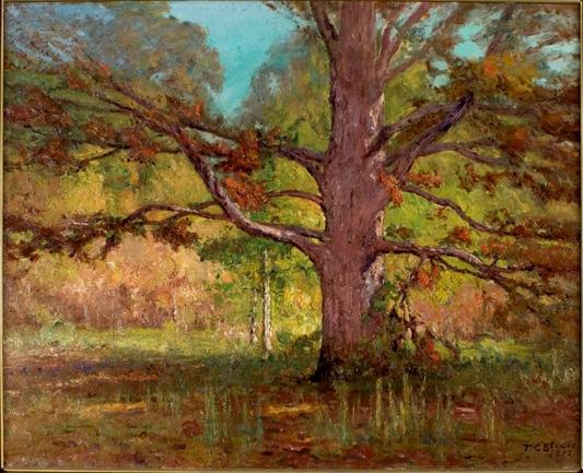 famous painting The Old Oak (Big Oak) of Theodore Clement Steele