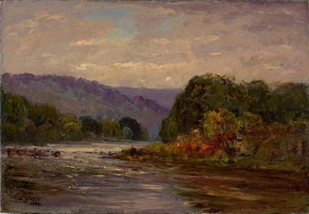 famous painting The Rapids of Theodore Clement Steele