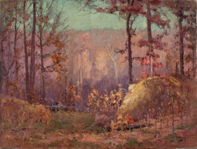 Order Museum Quality Copies Impressionism | The Ravine in Autumn by Theodore Clement Steele | TopImpressionists.com