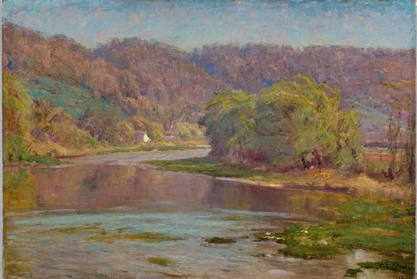 famous painting The River Valley of Theodore Clement Steele
