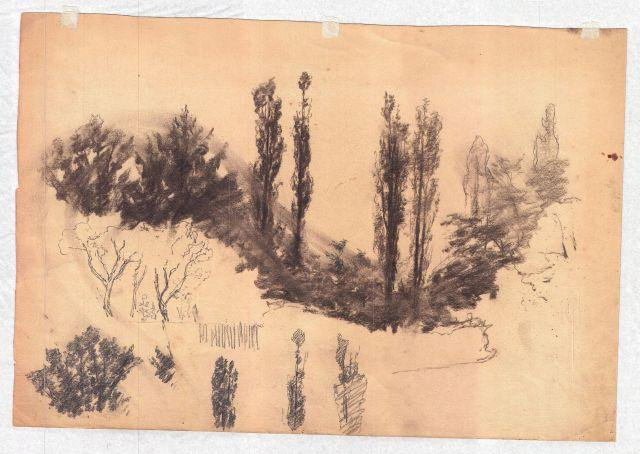 famous painting Trees 2 of Theodore Clement Steele