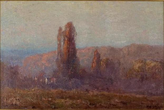 famous painting Trees in Autumn of Theodore Clement Steele