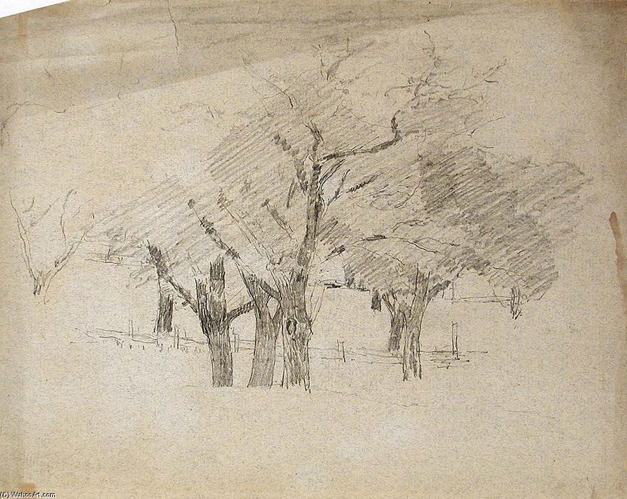famous painting Trees of Theodore Clement Steele